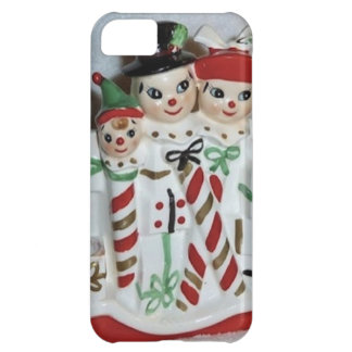 Vintage Christmas Candy Cane Family iPhone Case iPhone 5C Case