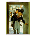 """Vintage Christmas Card """"A Christmas Carol"""""""