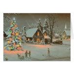 Vintage Christmas card Cards