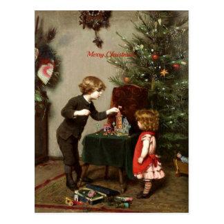 Vintage Christmas Card Decoration Postcard