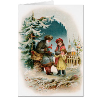 Vintage Christmas Card - German Santa