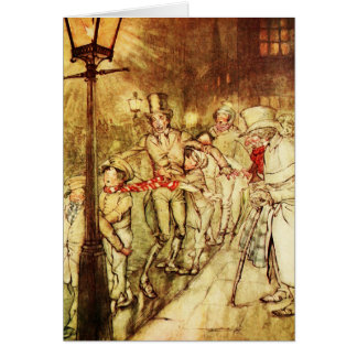 "Vintage Christmas Card ""Light Post"""