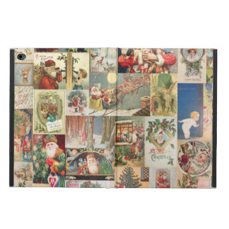 Vintage Christmas Cards Holiday Pattern