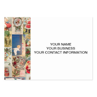 Vintage Christmas Cards Holiday Pattern Pack Of Chubby Business Cards