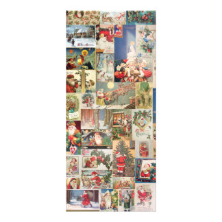 Vintage Christmas Cards Holiday Pattern Customized Rack Card