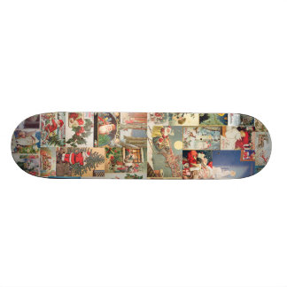 Vintage Christmas Cards Holiday Pattern Skate Boards