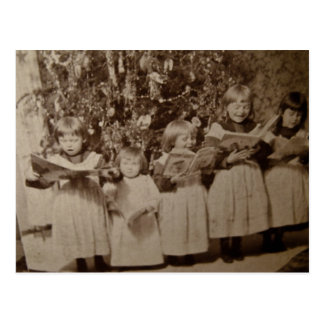 Vintage Christmas Carol Stereoview Card Postcard
