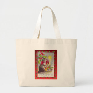 Vintage Christmas, Cat among decorations Bags