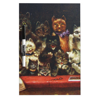Vintage Christmas Cat Family - At the Play Dry Erase Board