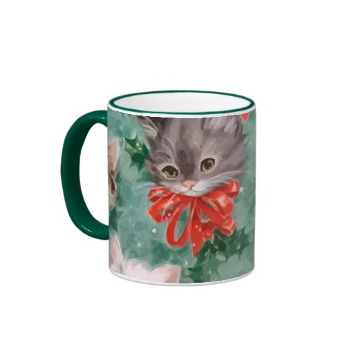 vintage christmas cats mugs zazzle