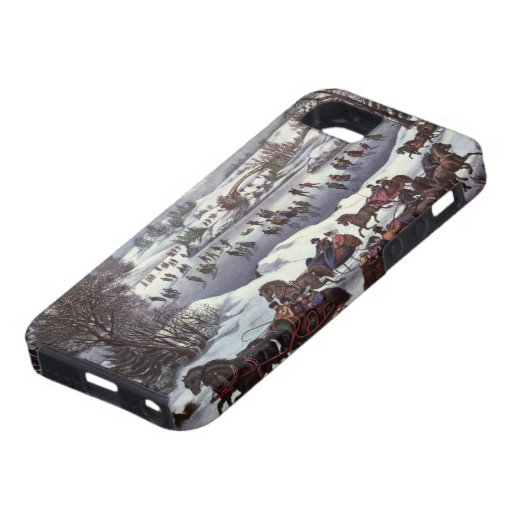 Vintage Christmas, Central Park in Winter iPhone 5 Covers