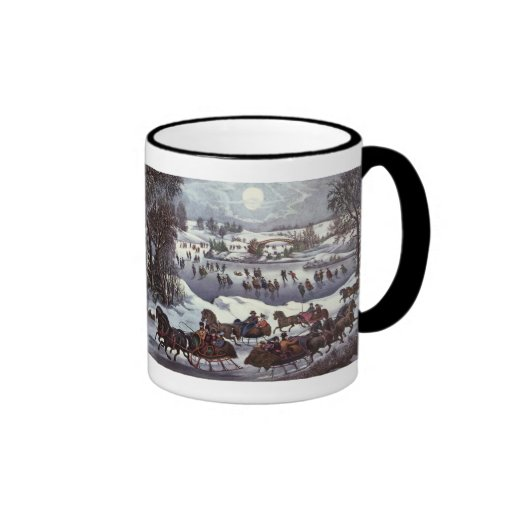 Vintage Christmas, Central Park in Winter Coffee Mug