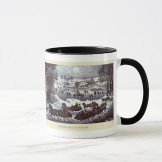 Vintage Christmas, Central Park in Winter Mug