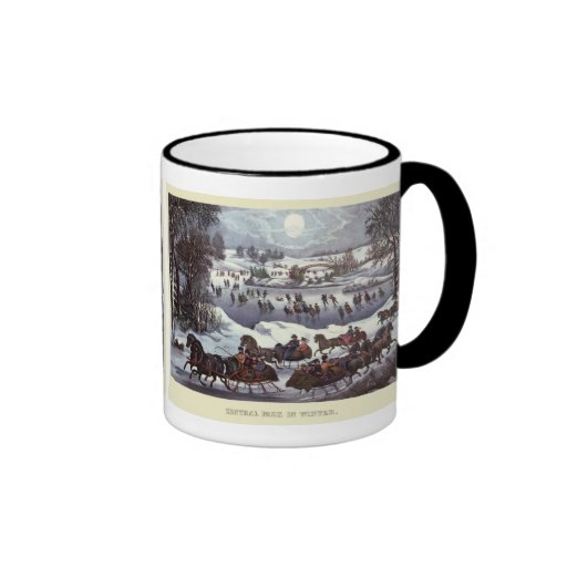 Vintage Christmas, Central Park in Winter Mugs