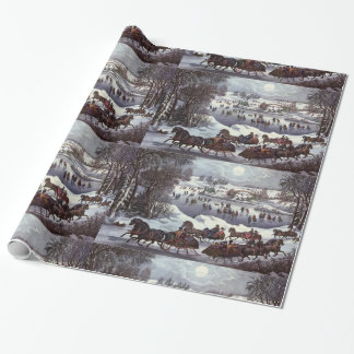 Vintage Christmas, Central Park in Winter Wrapping Paper
