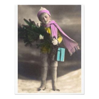 Vintage Christmas Child Custom Invites