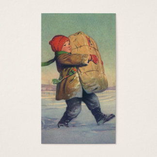 Vintage Christmas, Child with Large Package