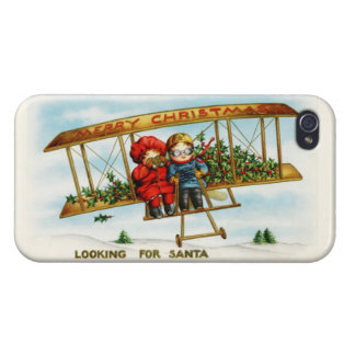 Vintage Christmas Children Looking For Santa Case For iPhone 4