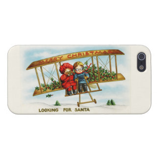 Vintage Christmas Children Looking For Santa iPhone 5/5S Case