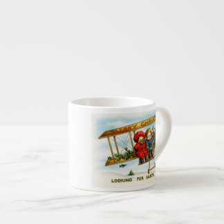 Vintage Christmas Children Looking For Santa Espresso Mugs
