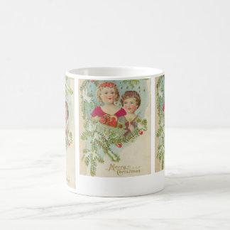 Vintage Christmas Children Classic White Coffee Mug
