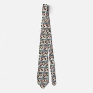 Vintage Christmas, Children Playing in the Snow Tie