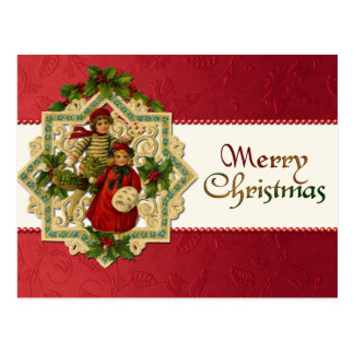 Vintage Christmas Children Postcard