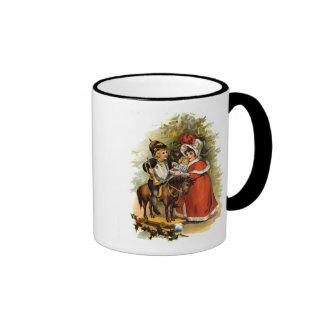 Vintage Christmas Children Ringer Mug