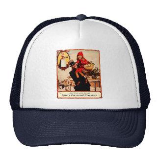 Vintage Christmas Chocolate Celebration Hat