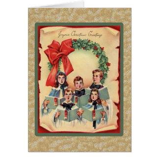 Vintage Christmas Choir Greeting Card