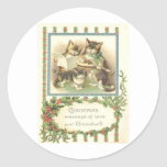 Vintage Christmas Classic Round Sticker
