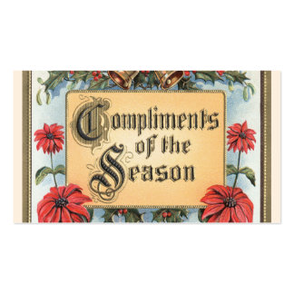 Vintage Christmas, Compliments of the Season Pack Of Standard Business Cards