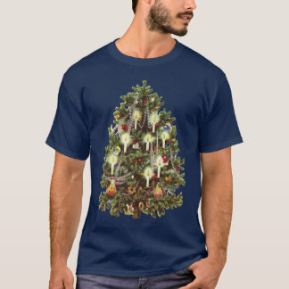 Vintage Christmas, Decorated Victorian Tree T-Shirt