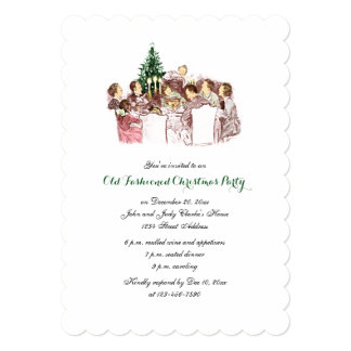 Vintage Christmas Dinner Holiday Party Invitation