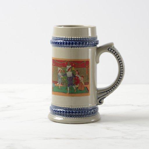 Vintage Christmas, Edwardian children dancing Coffee Mug