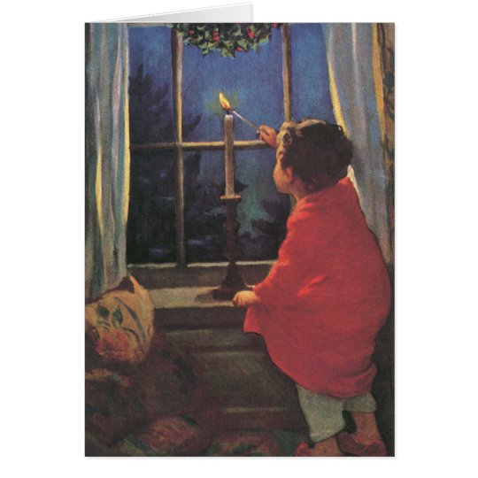Vintage Christmas Eve by Jessie Willcox Smith Card