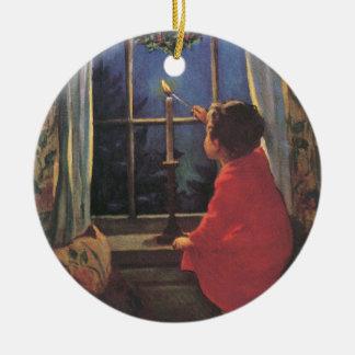 Vintage Christmas Eve by Jessie Willcox Smith Christmas Ornament