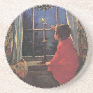 Vintage Christmas Eve by Jessie Willcox Smith Coaster