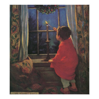 Vintage Christmas Eve by Jessie Willcox Smith Poster