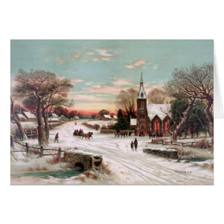 Vintage Christmas Eve Greeting Card