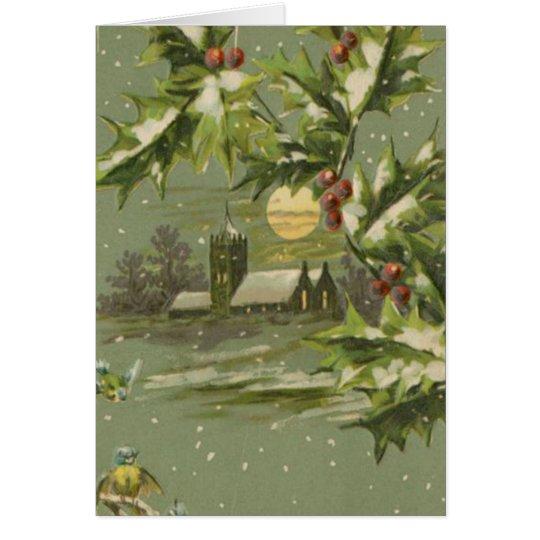 Vintage Christmas Eve Night Card