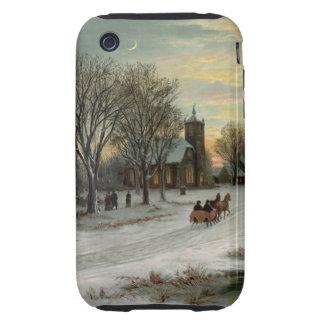 Vintage Christmas Eve Night Tough iPhone 3 Case