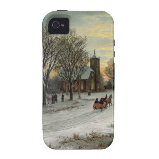 Vintage Christmas Eve Night Vibe iPhone 4 Covers