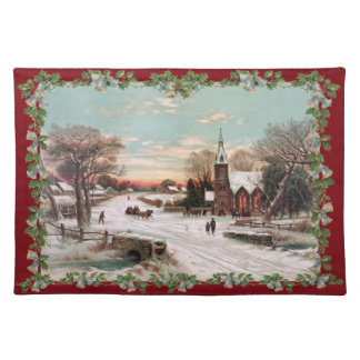 Vintage Christmas Eve Placemat