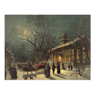 Vintage Christmas Eve Postcard