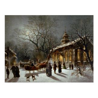 Vintage Christmas Eve scene Post Cards