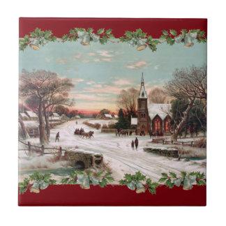 Vintage Christmas Eve Tile