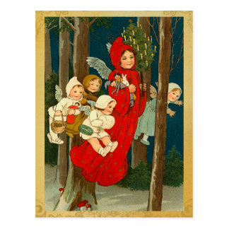 Vintage Christmas Faerie Postcard