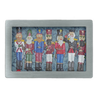 Vintage Christmas Figures, old soldiers Rectangular Belt Buckles