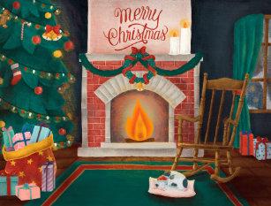 Retro Cat Christmas Postcards | Zazzle UK